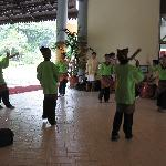 greeted by dancer when we arrived.