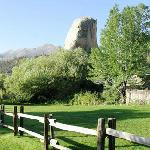 This sentinel rock stands at the approach to the inn