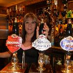 Landlady Maria Akister offers a warm welcome with real cask beers
