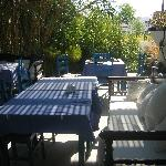 breakfast area at Drossos hotel