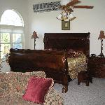king sleigh bed in penthouse suite