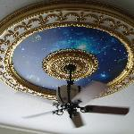 beautiful ceiling in master suite