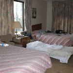 das schöne und saubere Zimmer