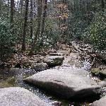 waterfalls along the Carrick Trail