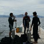 Scuba diving off Miniloc pier