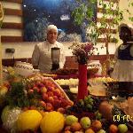 restaurant - buffet jus de fruits frais