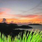 Beautiful sunset from Villa Santal