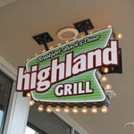The entrance to the Highland Grill