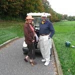 The host & hostess ready to tee off