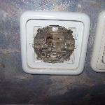 open light switch on headboard