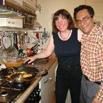 Aziz teaching his cooking secrets!