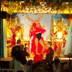 Scene from the show at Club Marbella