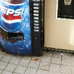 Dirty floor around vending machine ,floor 4