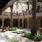 Villa's enclosed central courtyard