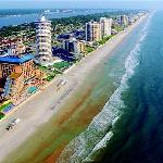 Shorelilne along Daytona Beach Shores