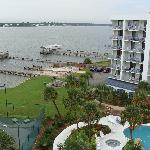 Picture from 7th floor balcony of pool area, pier