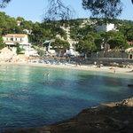 vista della spiaggia dell'hotel