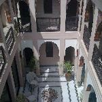 View of the riad from the rooftop terrace