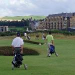 New Course with the Old Course Hotel in the background