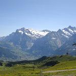 View from Mannlichen Bahn overlooking Grindelwald valley