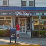 Mallon in front of Mallon's