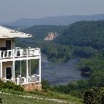The Inn at Riverbend and the view behind