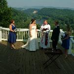 Our ceremony out on the deck
