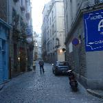 Blick auf die Corn du Cerf mit Hoteleingang