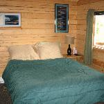 Inside the cabin - queen bed