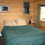 Inside the cabin - queen bed