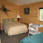 Inside the cabin - double bed