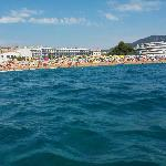 The beach from boat trip