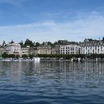 Coming by boat into Luzern