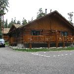 Our cabin on the left