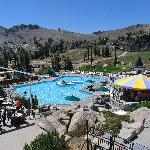 View of the pool at High Camp.