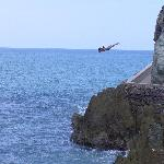 Cliff diver while on the city tour