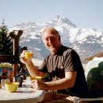 Breakfast on the terrace at Chalet Martin