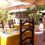The courtyard at El Comal
