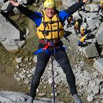Rapelling at Grimsel with Alpin Raft