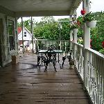 The Inn's deck area