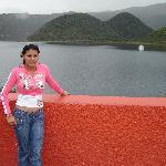 En el lago Cuicocha