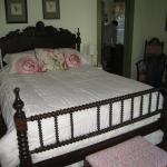 The bed in the Higgins room