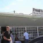 Derek in front of Frank's Bakery 8-08