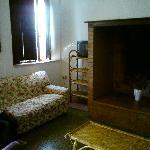 Le salon avec télé satellite
