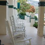 The veranda - lovely in the evening