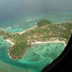 palm island from above