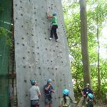 One of the climbing Walls