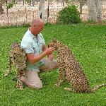 Me and tame Cheetah