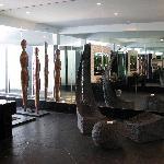 Unisex rest room - sculptures & seats