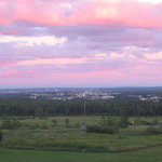 View of Moncton from behind Magnetic Hill - Magic Mountain crossroad, about 3 minutes from motel